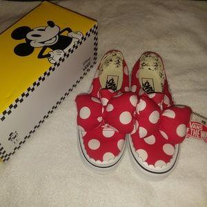 Disney Minnie's Polka Dot Bow Vans Slip On Shoe